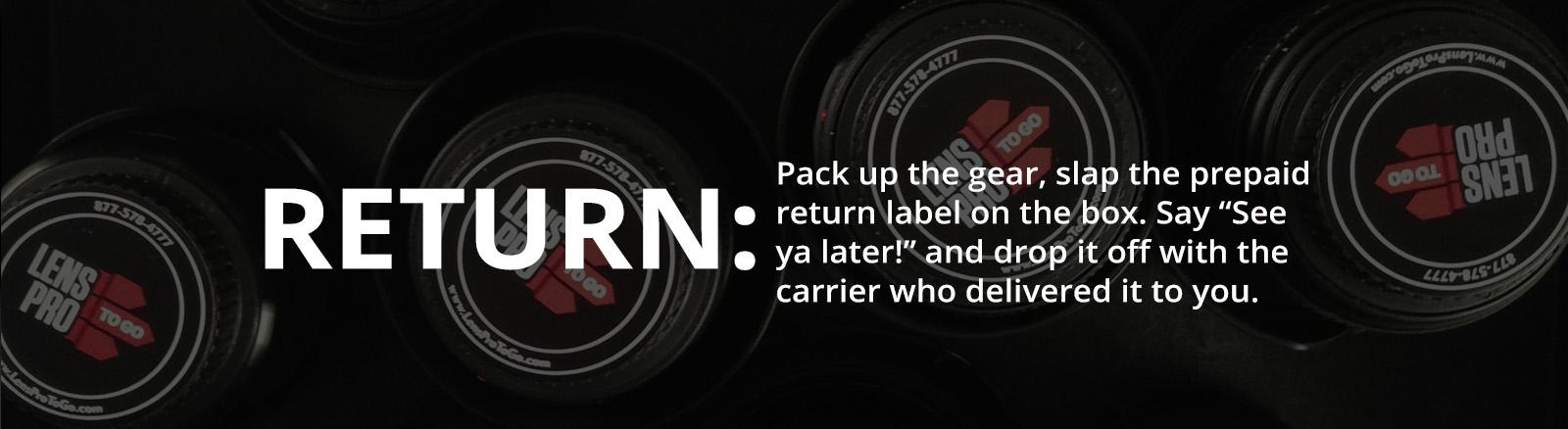 LensProToGo - How It Works - RETURN
