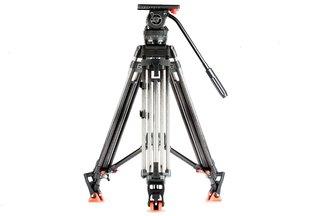 Sachtler DV-12SB Fluid Head & Carbon Fiber Tripod Legs