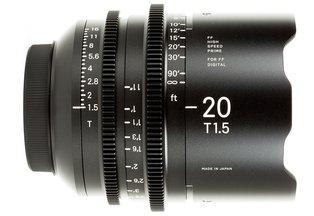 Sigma 20 T1.5 Cine Prime Canon EF Mount