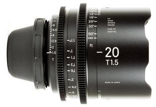 Sigma 20 T1.5 Cine Prime PL Mount