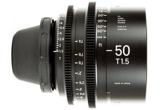 Sigma Cine 50mm T1.5 FF Prime (PL)