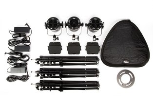 Fiilex P360 Pro Plus 3-Light LED Travel Kit