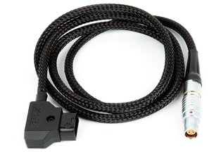 Wooden D-Tap to Canon C200 / C300II 3ft Braided Flex Cable