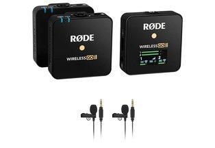Rode Wireless GO II 2-Person Microphone Kit w/ Omni Lav Mics