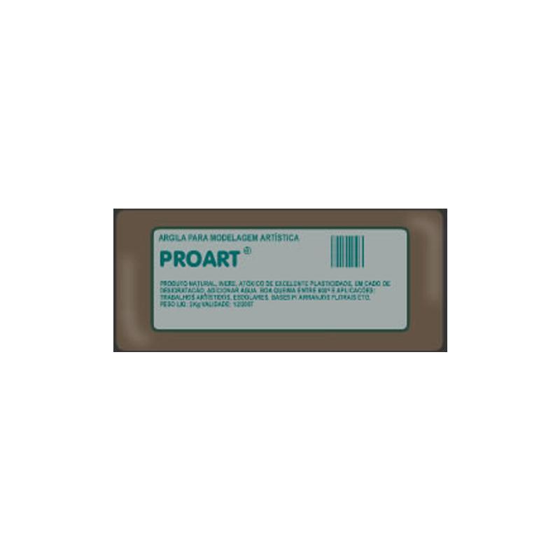 Argila escolar - pacote com 2 kg - Proart