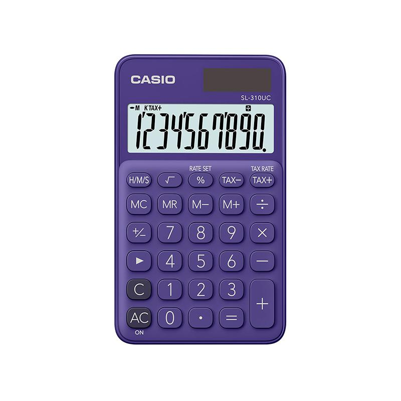 Calculadora de bolso 10 digitos SL-310UC-PL roxa - Casio