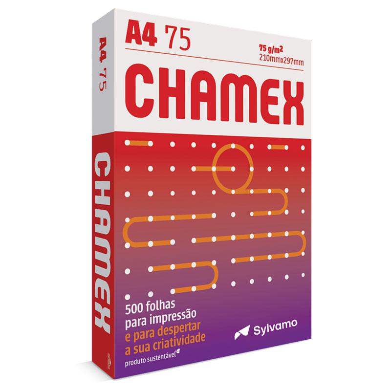 Papel sulfite A4 75g - 210x297 - com 500 folhas - Chamex