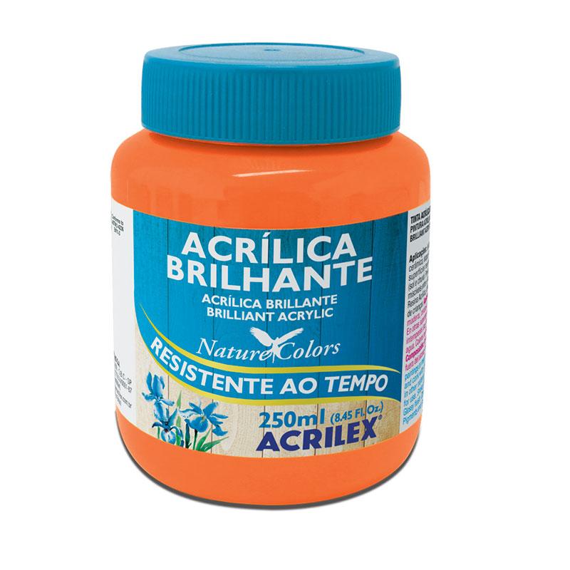 Tinta acrílica brilhante Laranja 250ml - 517 - Acrilex