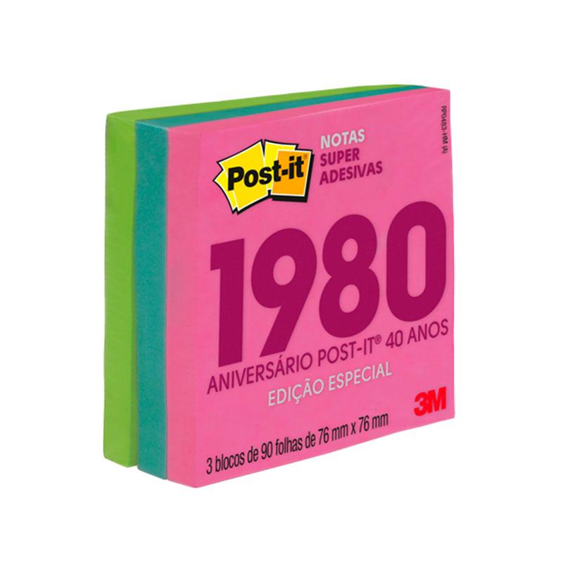 Bloco Post-It cubo miami coleção anos 1980 270fls 3M