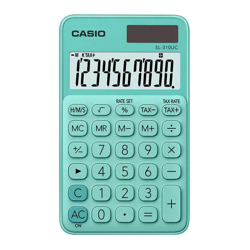 Calculadora de bolso 10 digitos SL-310UC-GN verde - Casio