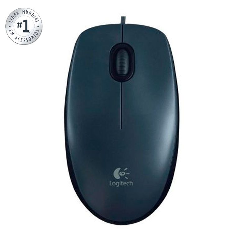 Mouse USB óptico M90 preto - Logitech