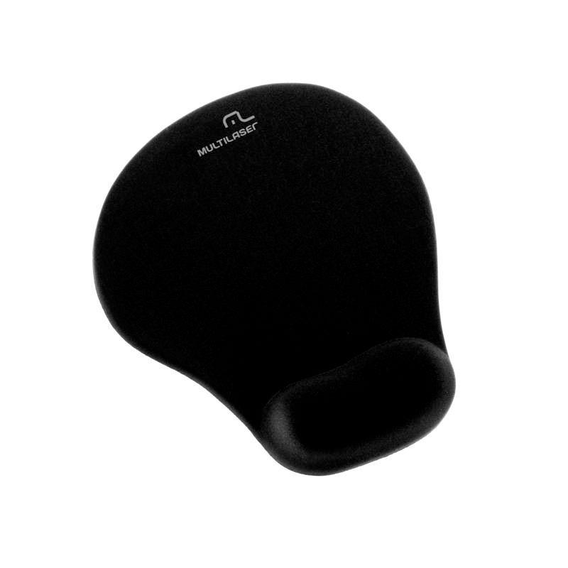 Mouse pad com apoio em gel preto pequeno - AC021 - Multilaser