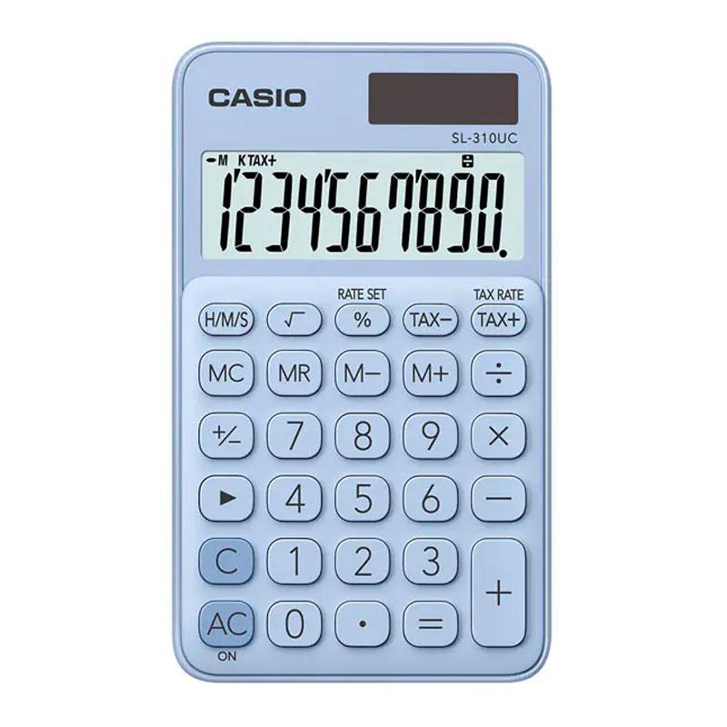 Calculadora de bolso 10 digitos - SL-310UC-LB azul claro - Casio