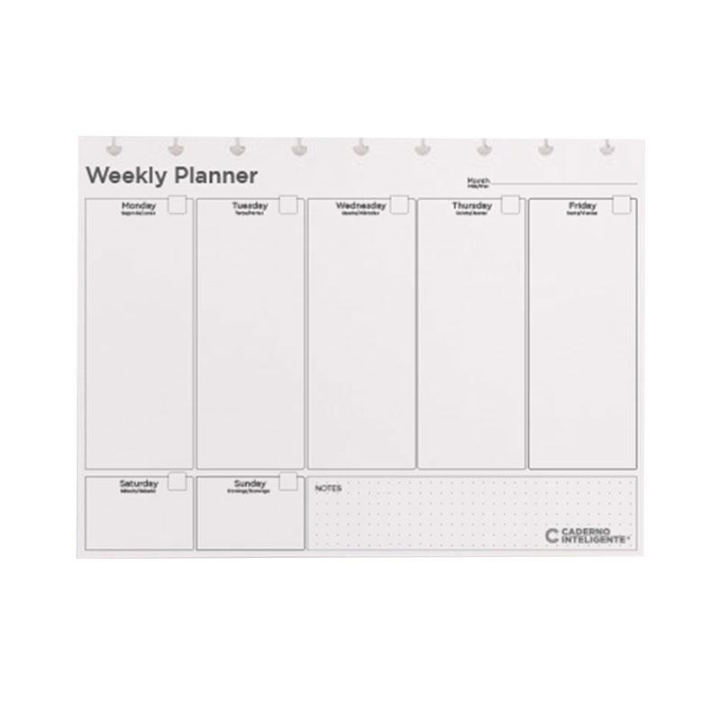 Bloco planner médio weekly My Frame com 30 folhas - CIRM3031 - Caderno inteligente