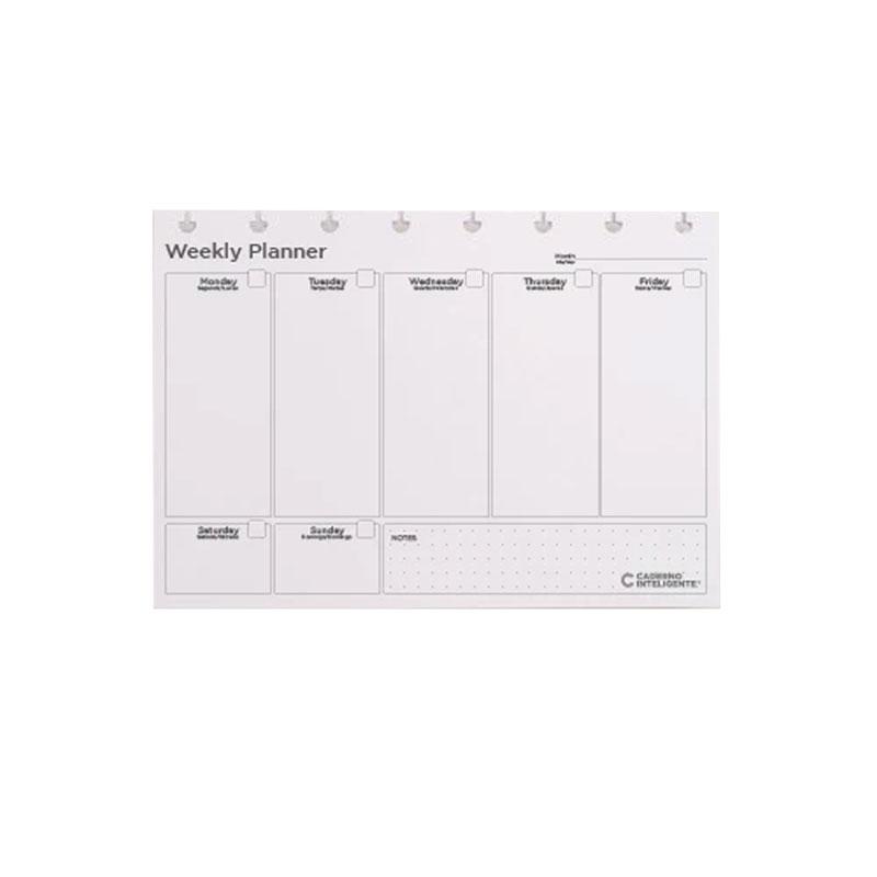 Bloco planner A5 weekly My Frame com 30 folhas - CIRA2025 - Caderno inteligente