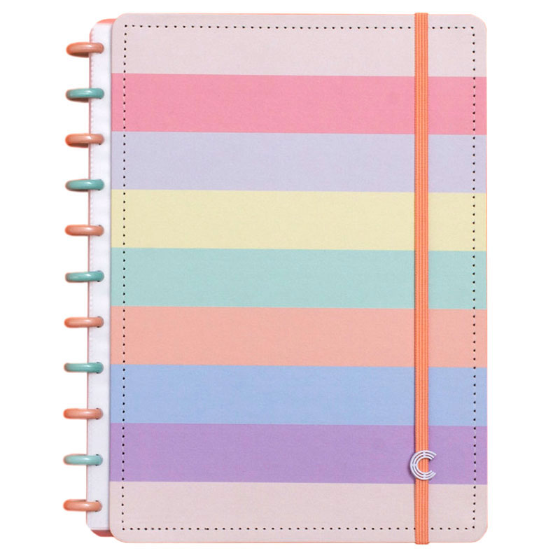 Caderno inteligente grande Arco Íris Pastel (G+) - CIGDP5060