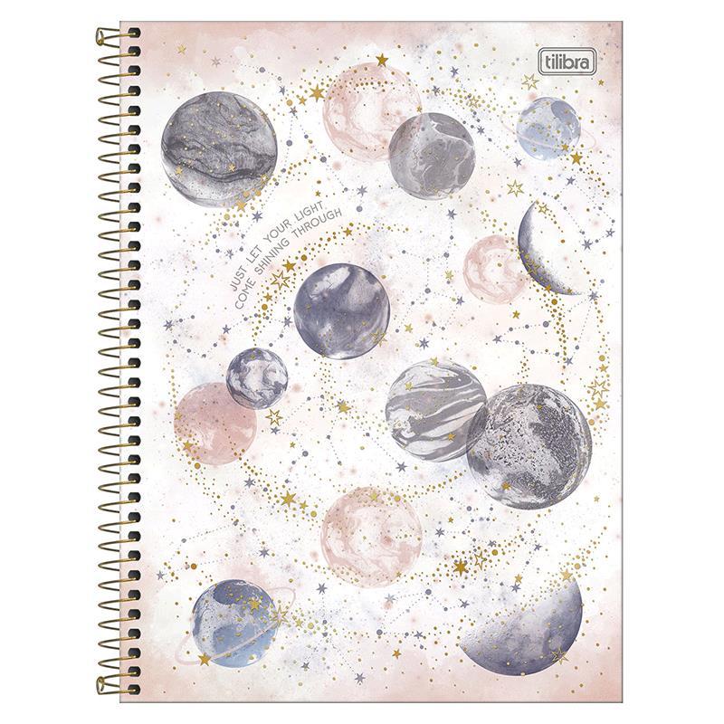 Caderno espiral capa dura universitário 1x1 - 80 folhas - Magic - 1 - Tilibra