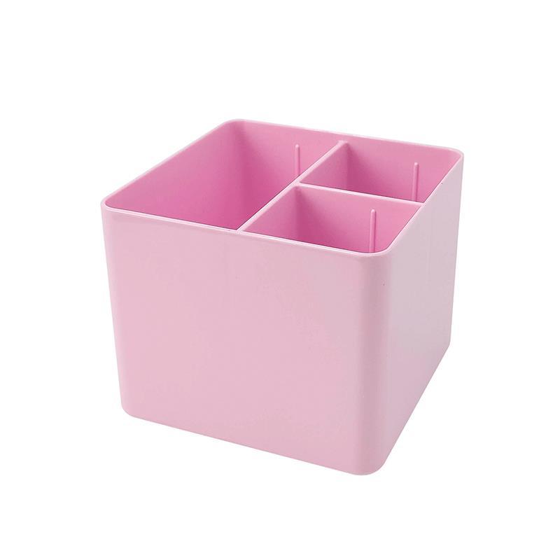 Porta objetos com 3 divisórias - rosa pastel - 3020.WP - Dello