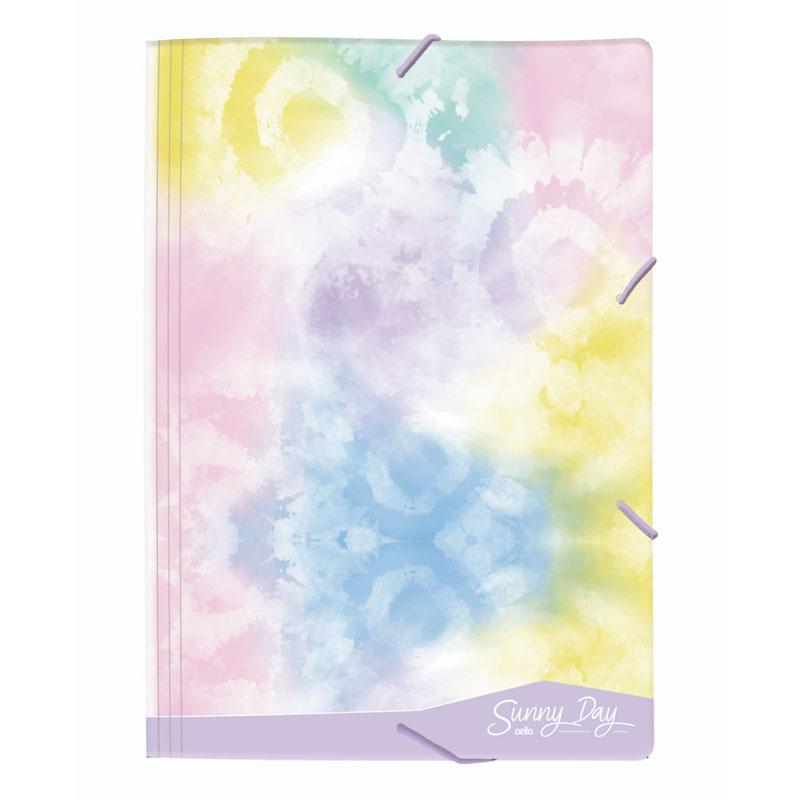 Pasta com aba elástico ofício - Tie Dye Sunny Day - Lilás - 0230.01 - Dello