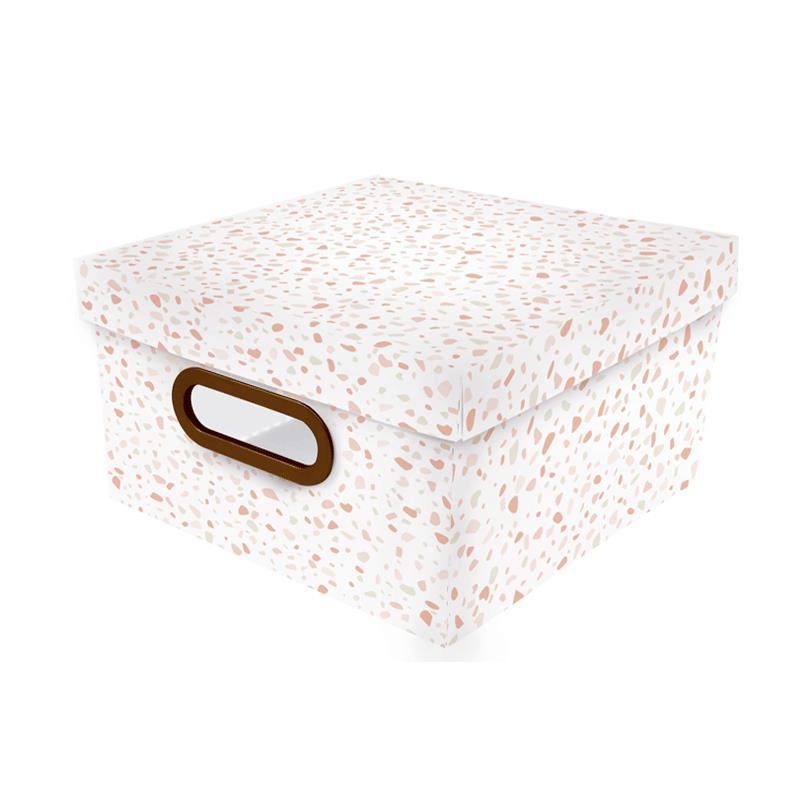 Caixa organizadora média granilite rosa - 2311.03 - Dello