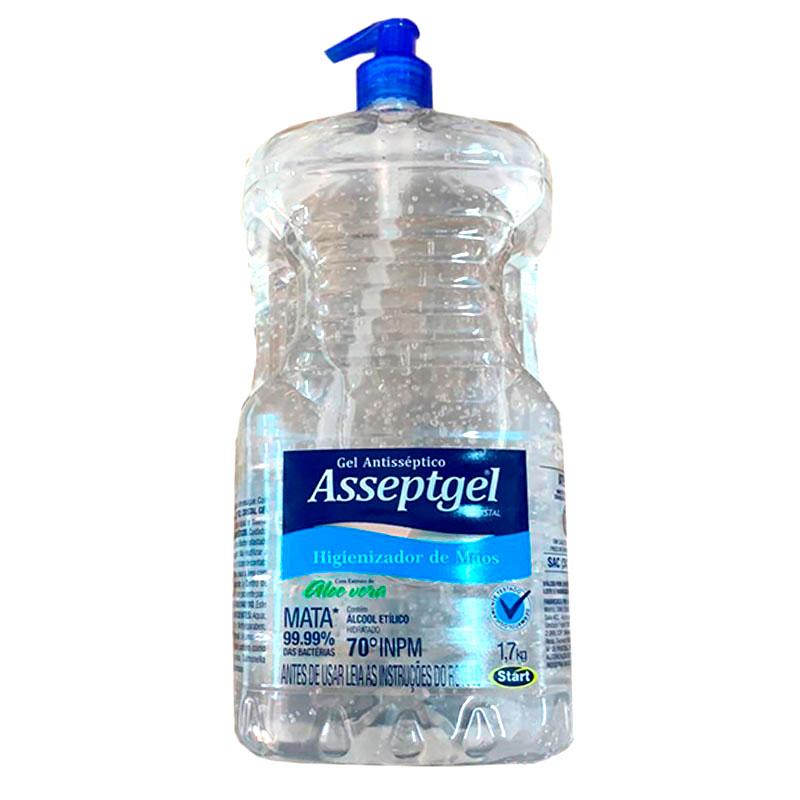 Álcool gel Asséptgel cristal Aloe Vera 1,7kg - Start Química
