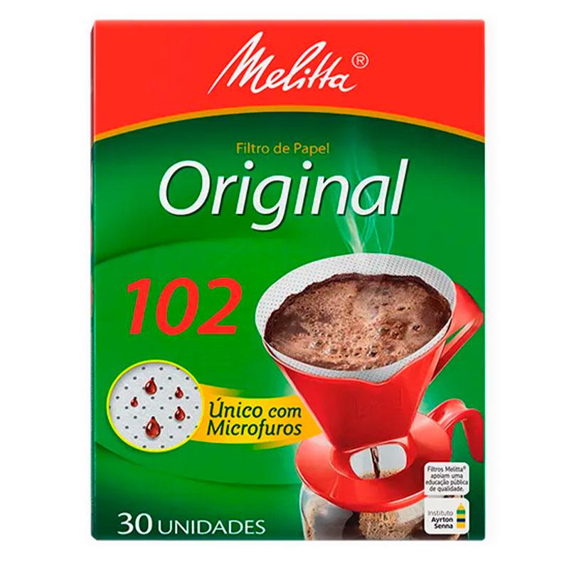 Filtro de papel 102 - caixa com 30 unidades - Melitta