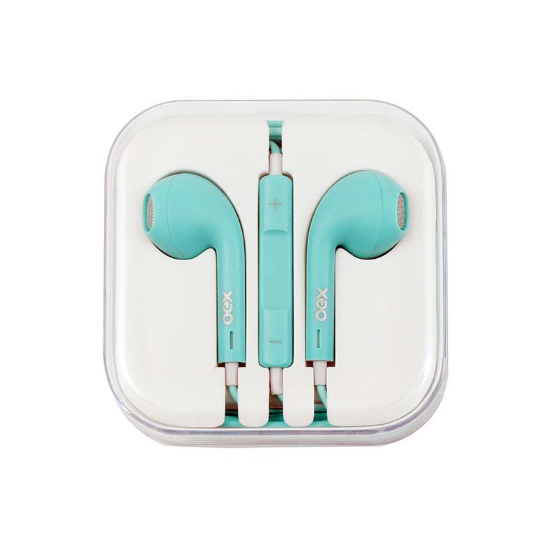 Fone de ouvido com microfone Colormood Candy verde pastel - FN204/VP - Oex