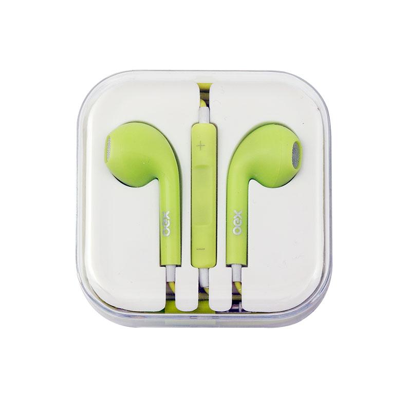 Fone de ouvido com microfone Colormood Candy verde - FN204/VD - Oex