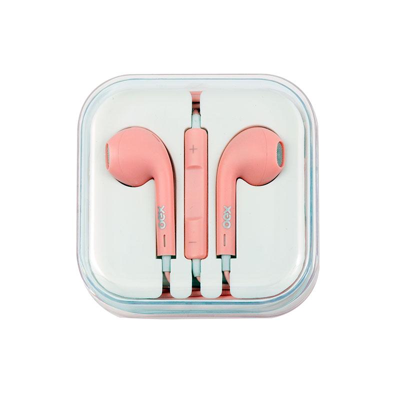 Fone de ouvido com microfone Colormood Candy rosa - FN204/RS - Oex