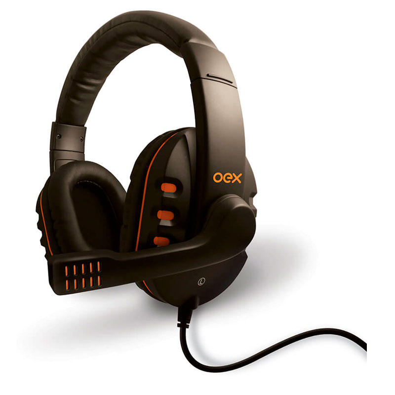 Headset P2 Gamer Action laranja - HS200 - Oex