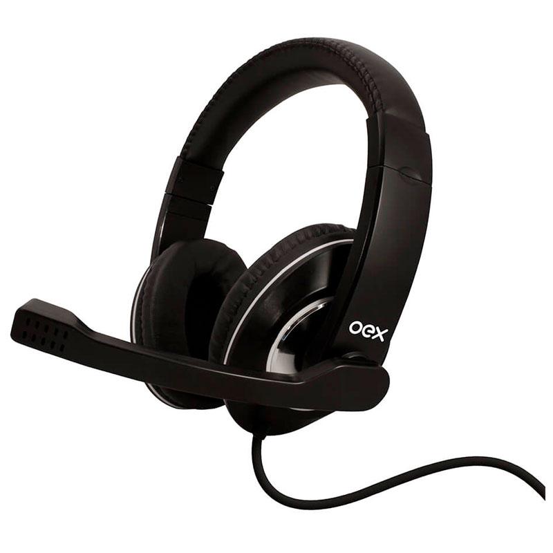 Headset USB Gamer Prime preto - HS201 - Oex