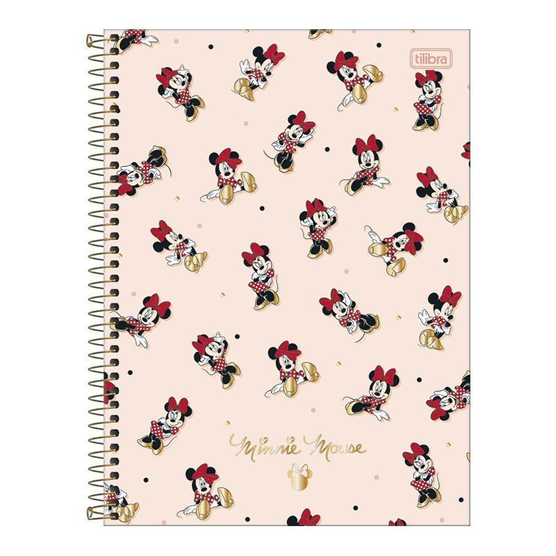 Caderno espiral capa dura universitário 10x1 - 160 folhas - Minnie - 3 - Tilibra