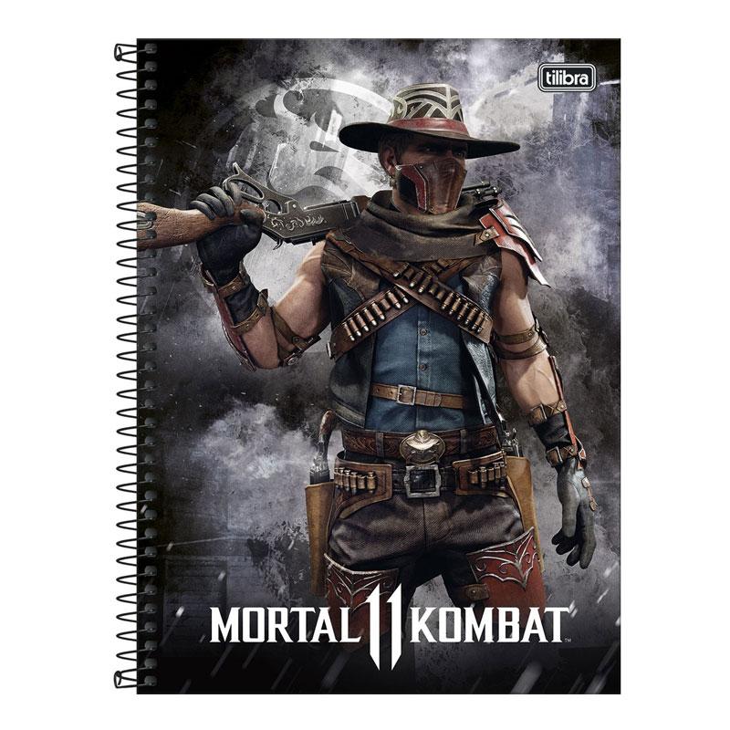 Caderno espiral capa dura universitário 1x1 - 80 folhas - Mortal Kombat - Capa 4 - Tilibra