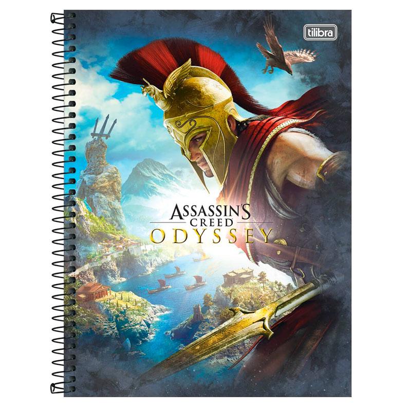 Caderno espiral capa dura universitário 1x1 - 80 folhas - Assassins Creed - Capa 1 - Tilibra