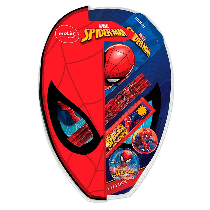 Kit escolar face Homem Aranha - com 7 itens - 5179 - Molin