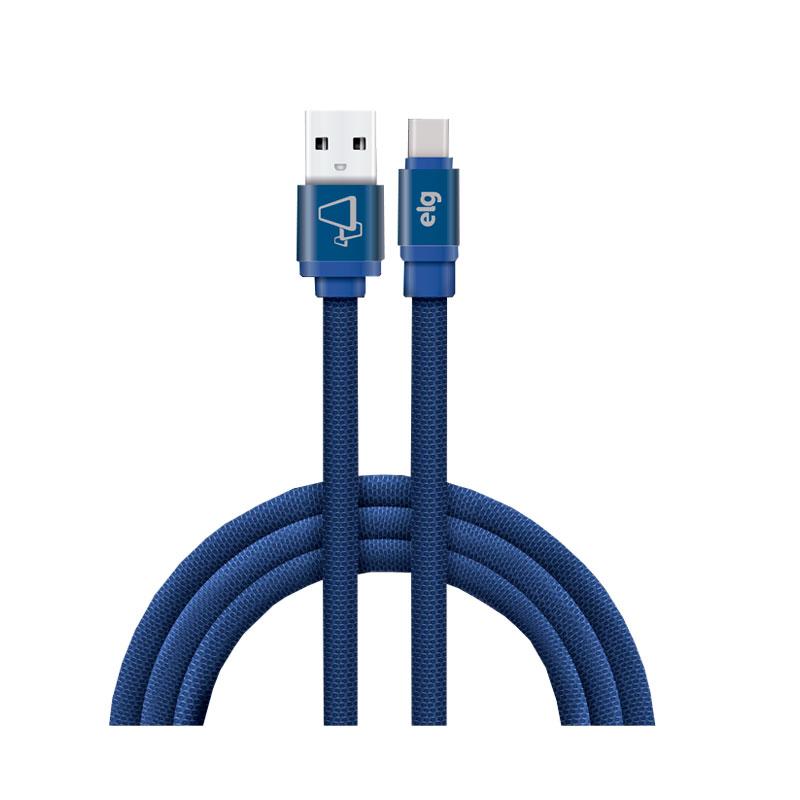 Cabo de sincronização/recarga USB canvas Tipo-C 1M - CNVC10BE - Azul  Elg
