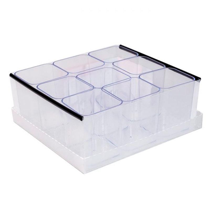 Caixa organizadora de objetos 9 divisões cristal 2194H004 Dello