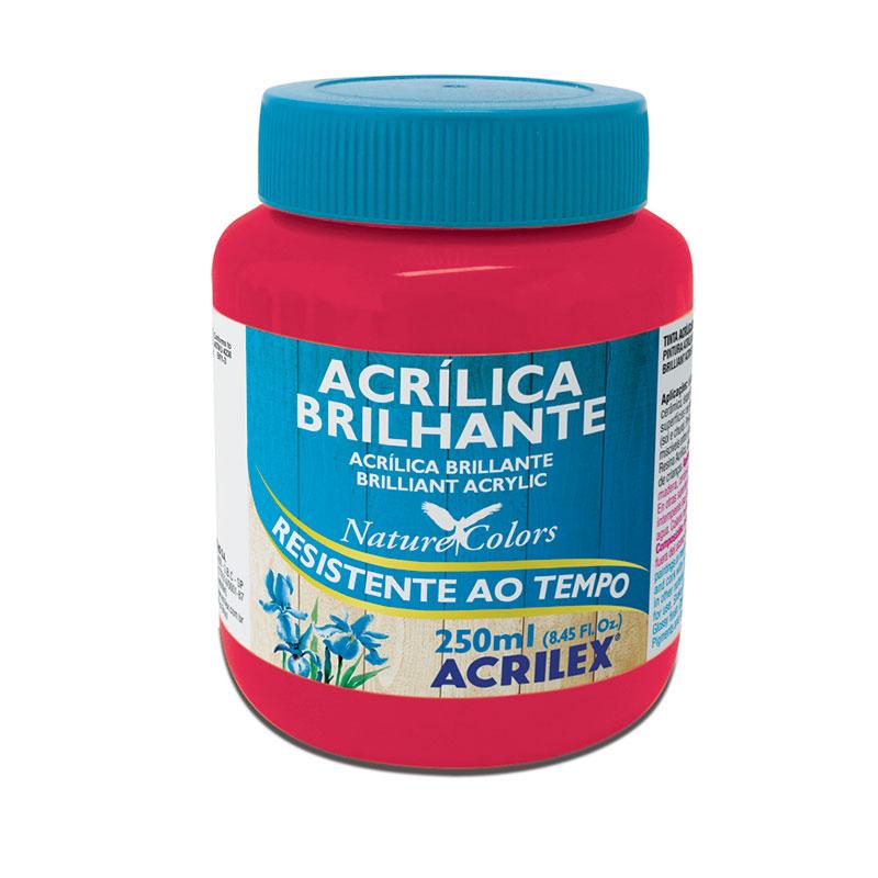 Tinta acrílica brilhante Rosa Escuro 250ml - 542 - Acrilex