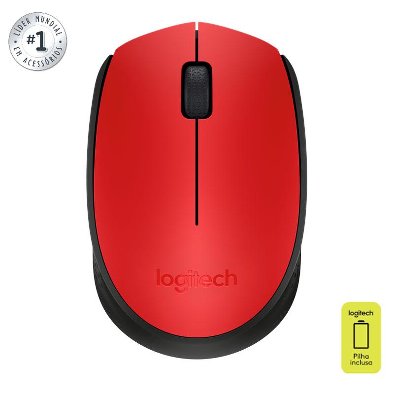 Mouse sem fio M170 vermelho - Logitech