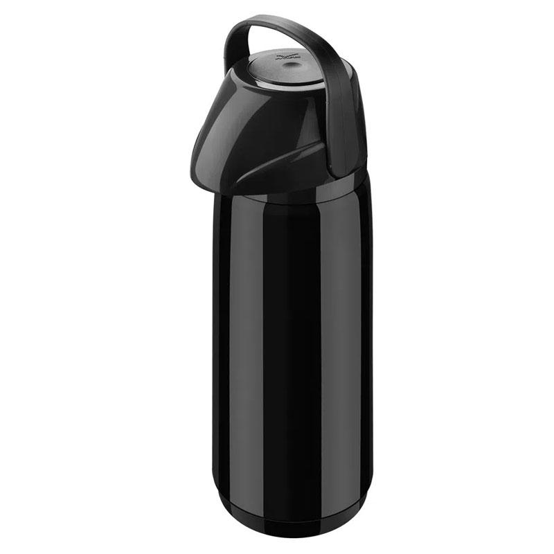 Garrafa térmica de pressão Air Slim PP Preta 1,8 litros - Invicta