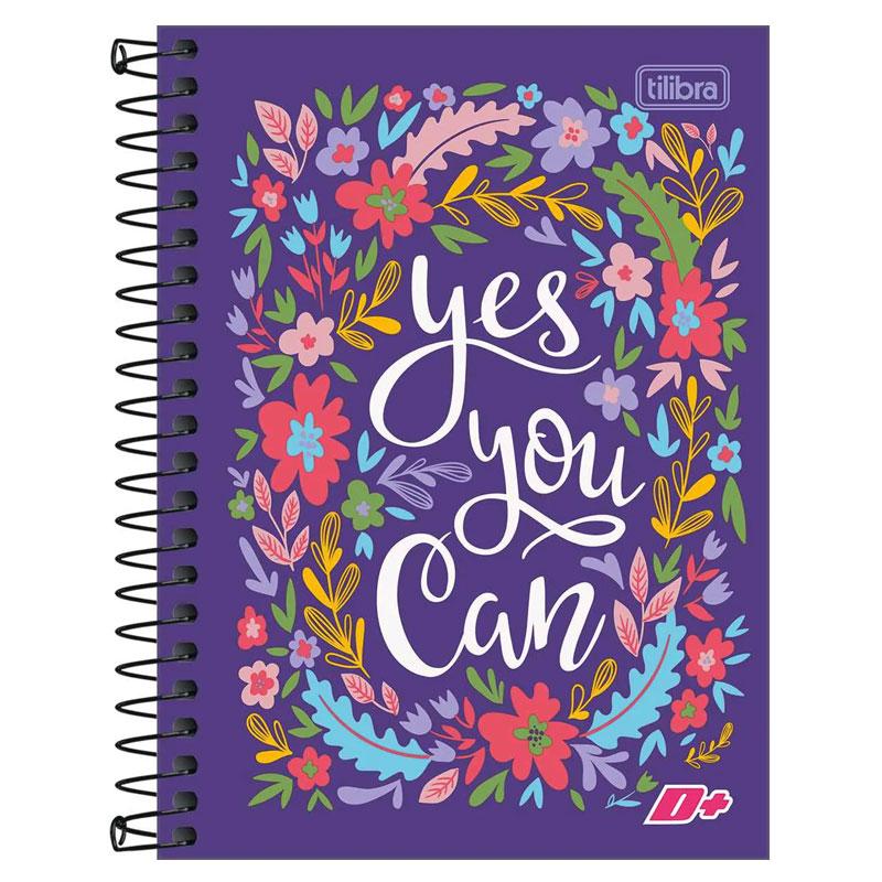 Caderno espiral capa dura 1/4 - 200 folhas - D Mais - Tucano - Tilibra