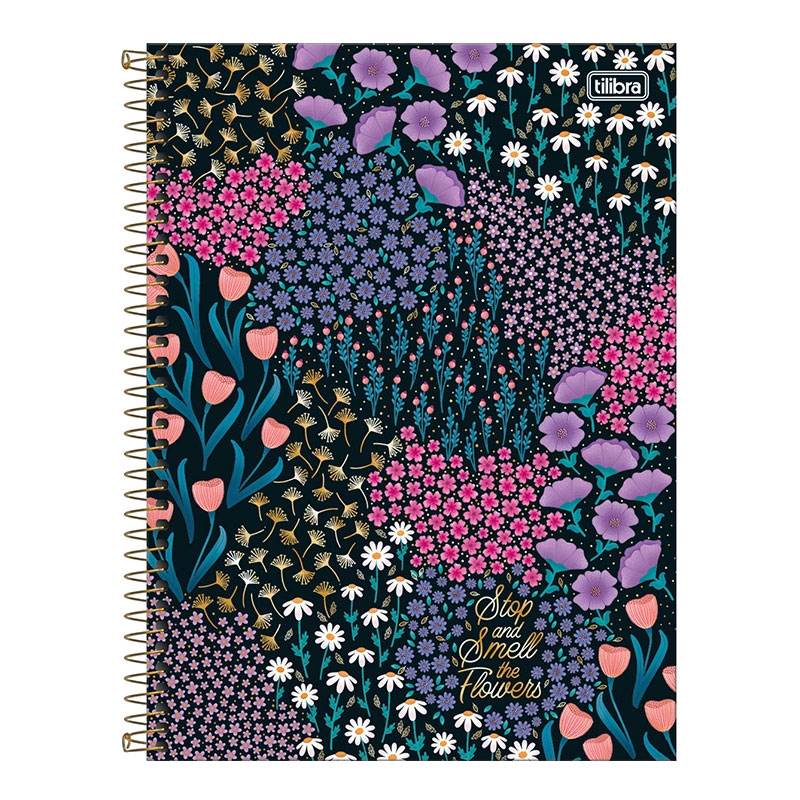 Caderno espiral capa dura universitário 10x1 - 160 folhas - Le Vanille - Verde - Tilibra