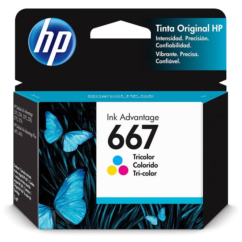 Cartucho HP Original (667) 3YM78AL - cores rendimento 100 páginas
