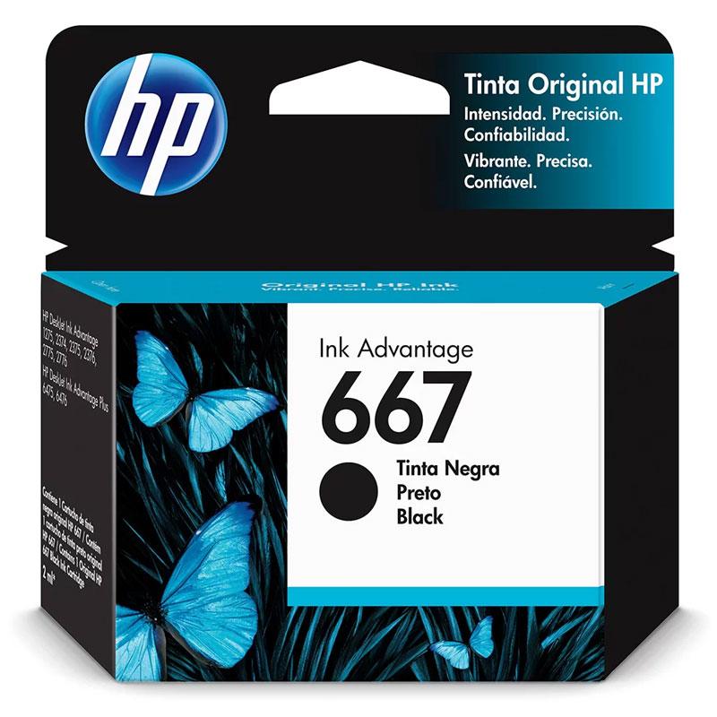 Cartucho HP Original (667) 3YM79AB - preto rendimento 120 páginas