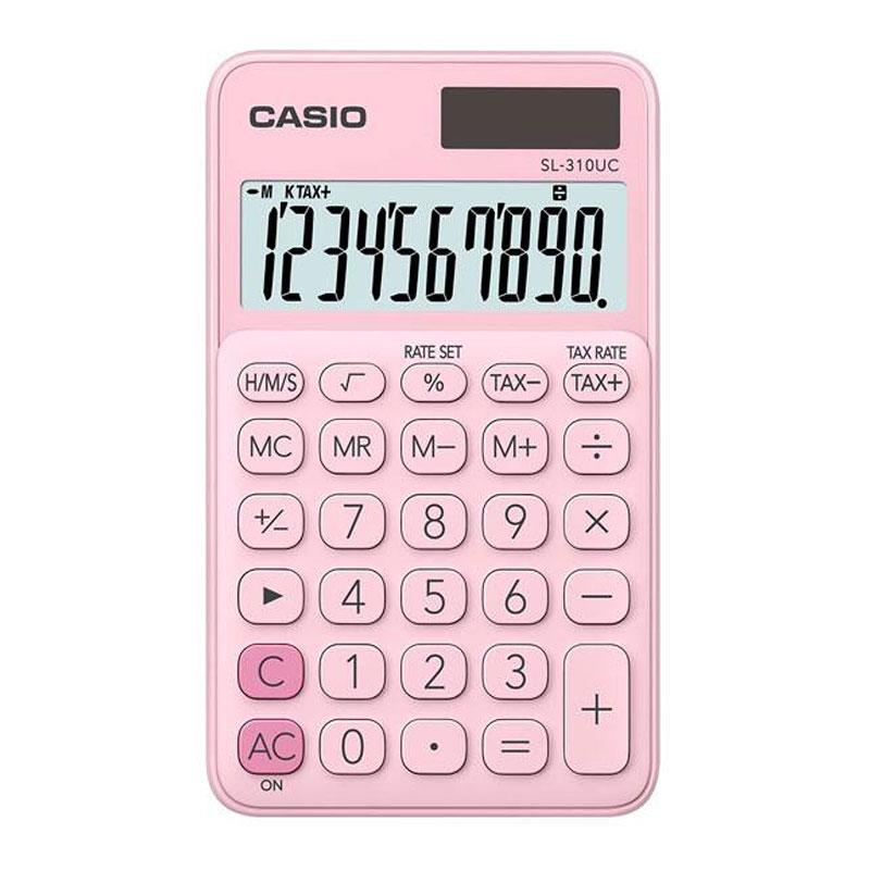 Calculadora de bolso 10 digitos SL-310UC-PK rosa - Casio