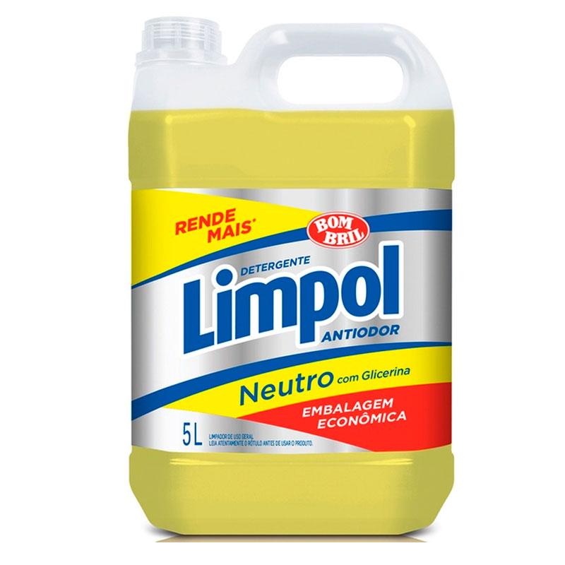 Detergente liquido Limpol neutro 5 litros - Bombril