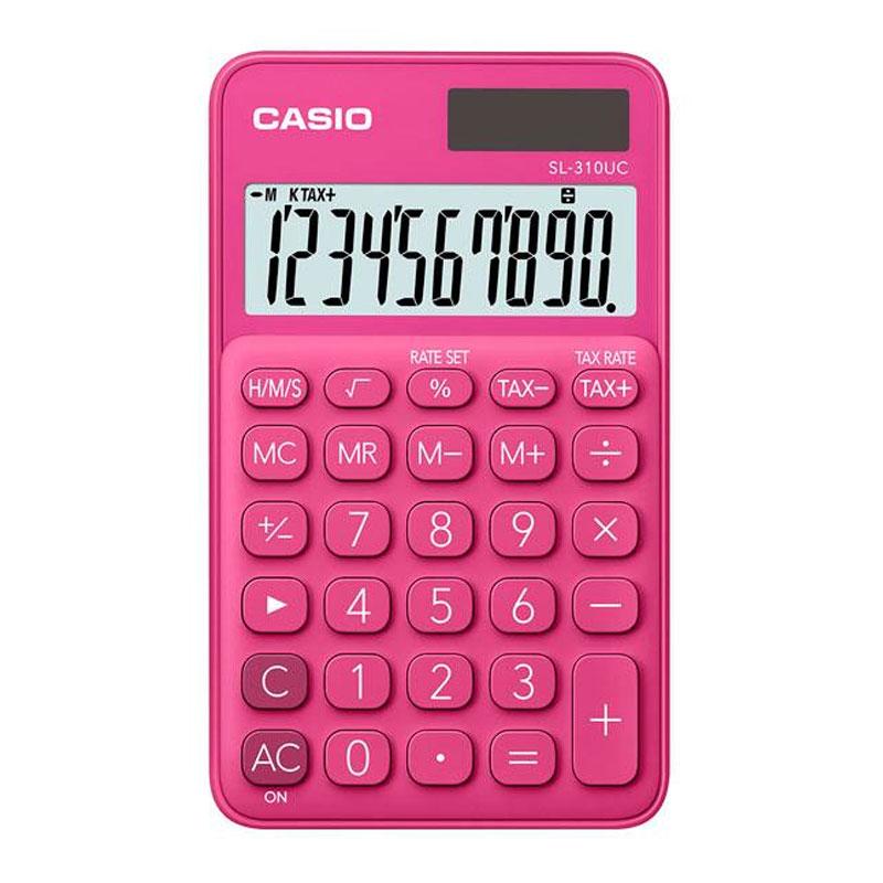 Calculadora de bolso 10 digitos - SL-310UC-RD pink - Casio