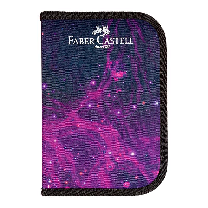 Estojo escolar Cosmic - 182221 - completo - Faber-Castell