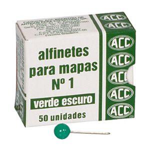 Alfinete para mapa NR 01 verde - com 50 unidades - ACC