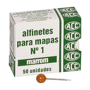Alfinete para mapa NR 01 marrom - com 50 unidades - ACC